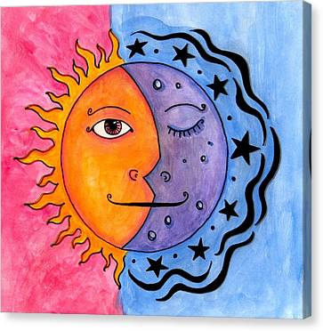 Sun And Moon Canvas Print by Jessica Kauffman