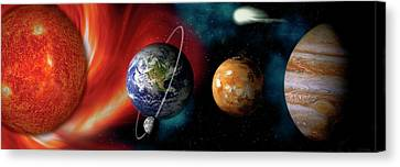 Sun And Planets Canvas Print by Panoramic Images