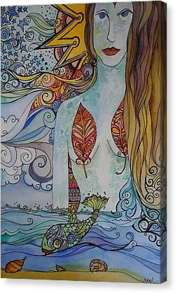 Sun And Sea Godess Canvas Print