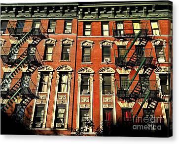 Sun And Shadow - The Rhythm Of New York Canvas Print by Miriam Danar