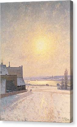 Sun And Snow Canvas Print by Per Ekstrom