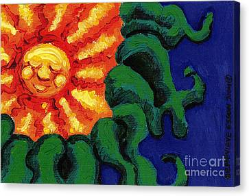 Sun Baby Canvas Print by Genevieve Esson
