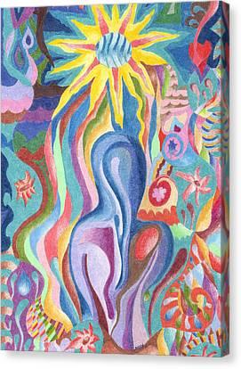 Sun Bath Canvas Print