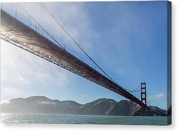 Sun Beams Through The Golden Gate Canvas Print by Scott Campbell