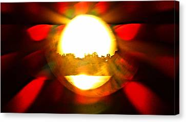 Canvas Print featuring the photograph Sun Burst by Eric Dee