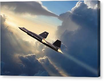 Sun Chaser Sr-71 Canvas Print by Peter Chilelli