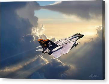 Bones Canvas Print - Sun Chaser Vf-84 by Peter Chilelli