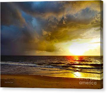 Sun Chasing The Storm Away Canvas Print by Julie Dant