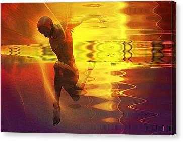 Canvas Print featuring the digital art Sun Dancer by Shadowlea Is
