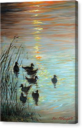 Sun Downers Canvas Print by Max Mckenzie