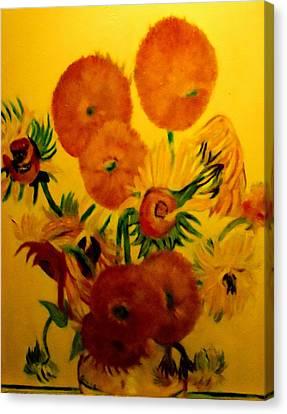 Sun Flowers Copy Canvas Print