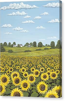 Sun Followers Canvas Print by Julie Ethridge