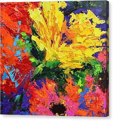 Sun Gazing Flower Canvas Print by Patricia Awapara