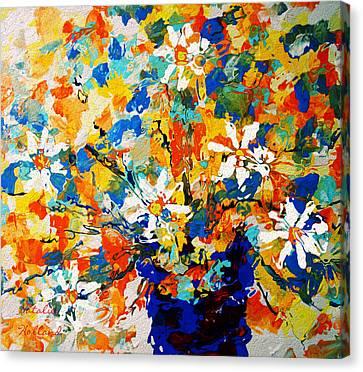 Sun Glow Bouquet Canvas Print by Natalie Holland