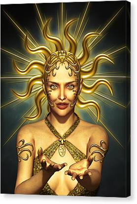 Sun Goddess Canvas Print by Britta Glodde