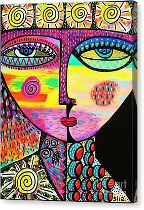 Sun Goddess Canvas Print by Sandra Silberzweig