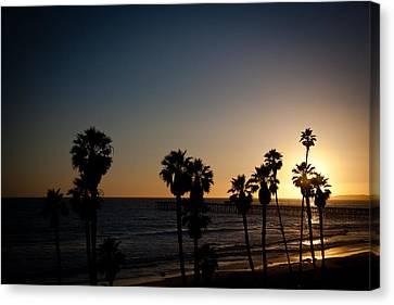 Sun Going Down In California Canvas Print by Ralf Kaiser