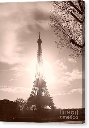 Sun In Paris Canvas Print