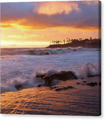 Canvas Print featuring the photograph Sun Kissed Coast by Cliff Wassmann