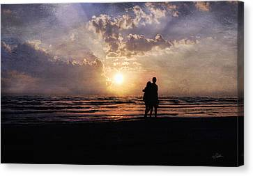 Sun Lovers Canvas Print by Peter Chilelli
