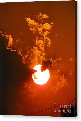 Sun On Fire Canvas Print