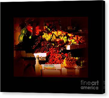Canvas Print featuring the photograph Sun On Fruit - Markets And Street Vendors Of New York City by Miriam Danar