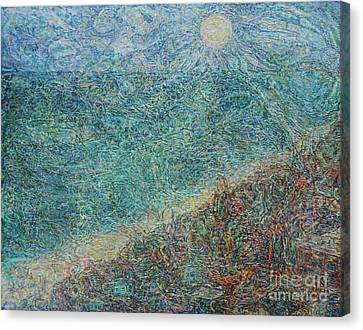 Sun Over The Azov Sea Canvas Print by Anna Yurasovsky