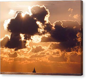Sun Peek Sailboat Canvas Print