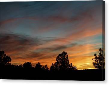 Sun Pillar Sunset Canvas Print by Jason Coward
