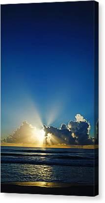 Sun Ray Sunrise Canvas Print