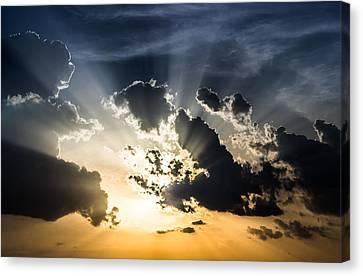 Sun Rays Explosion Canvas Print by Stanciu Dorin Mateut