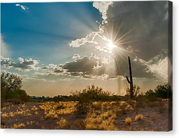Canvas Print featuring the photograph Sun Rays In Tucson by Dan McManus