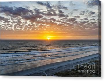 Sun Rising Over Atlantic Canvas Print