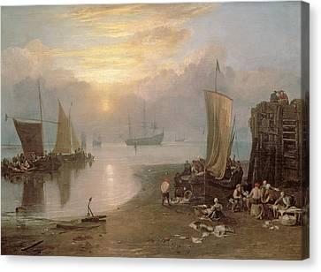 Sun Rising Through Vapour Canvas Print by Joseph Mallord William Turner