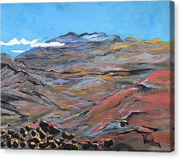 Sun Salutation At Haleakala Canvas Print