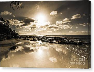 Sun Sand And Sea Reflection Canvas Print by Jorgo Photography - Wall Art Gallery