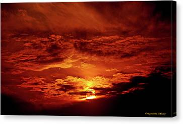 Sun Set II Canvas Print by Chaza Abou El Khair