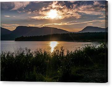 Canvas Print - Sun Setting by Ric Schafer