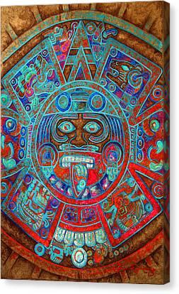Sun Stone Canvas Print by J- J- Espinoza