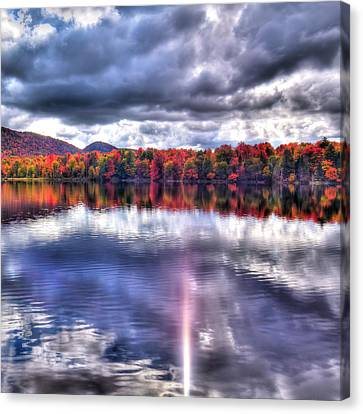 Canvas Print featuring the photograph Sun Streaks On West Lake by David Patterson