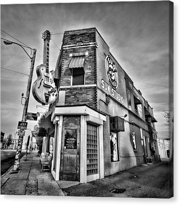 Johnny Cash Canvas Print - Sun Studio - Memphis #2 by Stephen Stookey