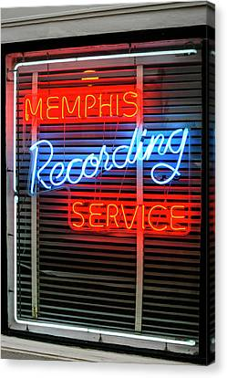 Sun Studio Neon Sign Memphis Canvas Print