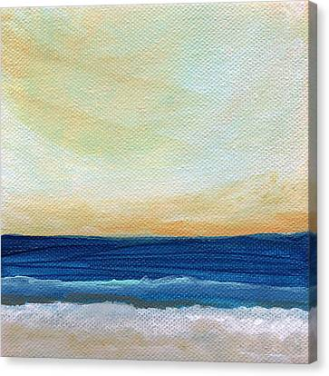 Cloud Canvas Print - Sun Swept Coast- Abstract Seascape by Linda Woods
