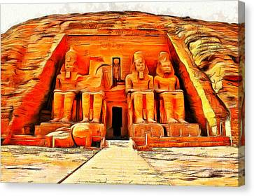 Sun Temple Of Abu Simbel Canvas Print by Leonardo Digenio