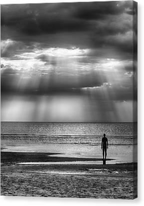 Sun Through The Clouds Bw 11x14 Canvas Print
