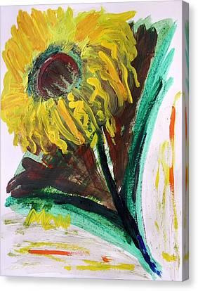 Canvas Print featuring the painting Sun Tilt by Mary Carol Williams
