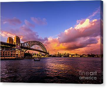 Canvas Print featuring the photograph Sun Up by Perry Webster