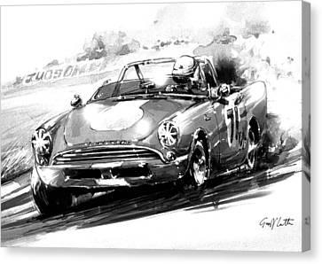 Sunbeam Alpine Race Car Canvas Print by Geoff Latter