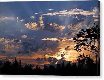 Sunbeams At Sunset Canvas Print