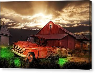 Sunburst At The Farm Canvas Print by Bill Cannon